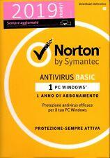 Norton Antivirus Basic 2019 1PC (1 Anno) - Invio Product Key via mail