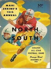 NP-161 Mahi Shrine's North South All Star Football Game Program 1958 Coca-Cola