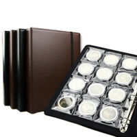 60pcs 58mm PCCB  Coin Storage Book Collection Album Holder Money Round Box Case