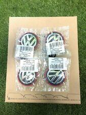 4X New Genuine Volkswagen Golf Mk7 GTI R GTD Center Wheel Caps Set 5G0601171BLYC
