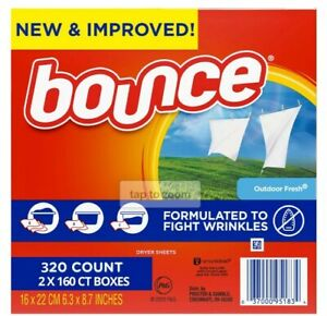 Bounce Fabric Softener and Dryer Sheets, Outdoor Fresh, 320 Count