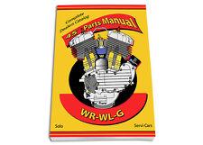Spare Parts & Service Book Harley Wr Wla Wlc 45 Servi-Car Shop Dope - 380 pages