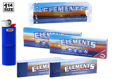 ELEMENTS (6PC) BUNDLE - ROLLING MACHINE + 2 PAPERS + 2 TIPS + Lighter 1-1/4 SIZE