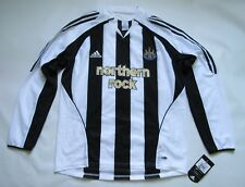 NEWCASTLE UNITED home LONG SLEEVE shirt ADIDAS 2005-07 The Magpies adult SIZE L
