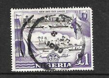 NIGERIA 1953 SG80 £1 USED CAT £17