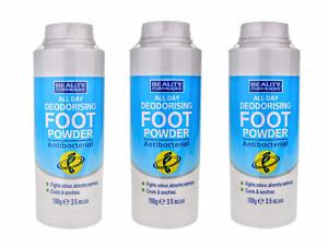 Odour Control Deodorising Deodorant FOOT POWDER - Antibacterial. (1 ,2, 3 Pack)