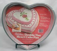 Wilton Double Tier Heart Cake Pan #502-2695 Instruction Book Valentine Birthday