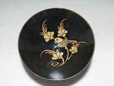 China Jizhou Kiln old bowl Black Brown glaze Carved flowers birds Porcelain bowl