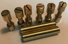 Knife Handle Hardware 6 Brass Corby Rivets 2 Lanyard Tubes Knife Making Supply