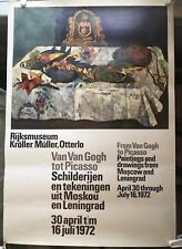"Dutch Museum Ex poster 1972 image of Paul Gauguins ""Still Life with Parrots"