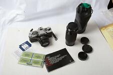 Minolta XG-1 SLR Camera w/ 2 Lenses (A2R) 45mm F/2 Rokkor Toyo 75-200mm Untested