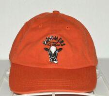 Moomers Ice Cream Hat Homemade Cow Logo Orange Baseball Cap Strapback