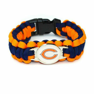 Chicago Bears NFL Paracord Bracelet NEW  -  FREE SHIPPING!!!