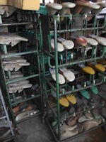 40 Paar Schuhleisten, Schuster, Schuhmacher, Gr. 42-45,5, Konvolut