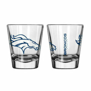 clear Denver Broncos Game Day 2oz Shot Glass new fast free shipping NFL