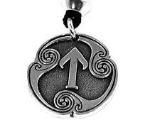 Handmade Tir, Rune of Victory Viking Pewter Pendant, Norse Odin, Justice success