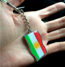 2 PCs Kurdistan Flag Keychain Key Holder Kurdish Keychain Souvenir Key Ring