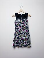 Ketchup Size 10 Cute Summer Floral Black White Colorful A Line short Zip dress