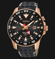 Seiko Analog Casual Watch Sportura Kinetic Black Men's SUN028P1