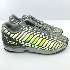 info for a2aa9 9fab5 Adidas ZX Flux B24442 shoes mens new sneakers GREY Xeno Reflective 3M RARE