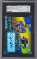 2008 Bowman Joe Flacco Auto RC/20 Autograph Jersey Patch Gold Refractor SGC 92