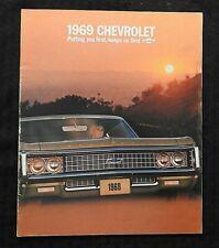 """1969 BIG CHEVROLET"" IMPALA & CAPRICE BROCHURE CATALOG 327 350 396 427 SS MINTY"