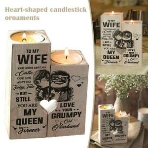 Newly Husband to Wife You Are My Queen Forever Candle Holder with Candle Gift