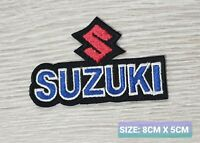 Suzuki Car Motor logo Badge Embroidered Iron On/Sew On Patch