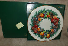 Lenox Colonial Christmas Wreath Plate 1988 Delaware the Eighth Colony