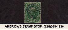1857 US SC 33 Used 10c Yellowish Green, Washington, Type III - Oval Bar Cancel*