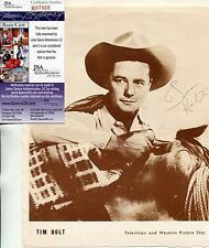 TIM HOLT CHILD ACTOR IN STAGECOACH SIGNED PHOTO PAGE AUTOGRAPH JSA AUTHENTICATED