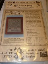 THE SCARLET LETTER FANNY HANCOCK SAMPLER COUNTED CROSS STITCH KIT REPRODUCTION