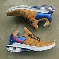 Nike Shox Gravity Men's Running Shoes AR199-700 Metallic Gold New