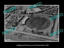 OLD LARGE HISTORIC PHOTO COLLINGWOOD MELBOURNE, AERIAL VIEW VICTORIA PARK c1930