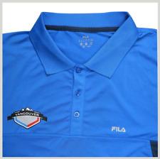 FILA Mens Polo Shirt M Vancouver City Logo Blue Stretch Golf Rugby Canada Sport