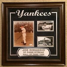 Joe DiMaggio signed 8x10 Custom laser framed Yankees, HOF, JSA Auth #X58056