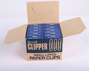 Scovill Clipper Small Lipped Paperclips 22mm Box 10x100