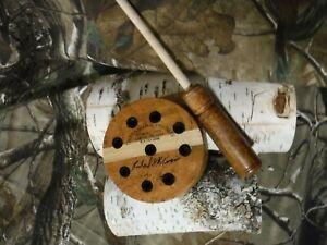 TURKEY FRICTION SLATE Pot Call   CHERRY BURL with EBONY   TYLERSBURG YELPERS