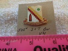 502nd S & T Battalion V21 Unit Crest, DI, DUI (DRAW#L7)