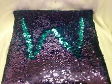"""14"""" Mermaid Sequin Throw Pillow, Color Changing, Purple, Midnight Blue Magic"""