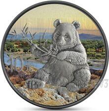 2017 1 Oz Silver CHINA PANDA Antique Finish Coin W/ Coa and Blister.
