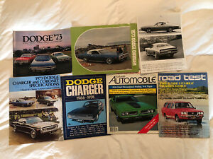 Lot Of 1973 Dodge Charger Brochures Magazines Literature