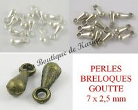 CREATION BIJOUX PERLES CHARMS MARRON LOT 5 BRELOQUES CHIEN BLANC