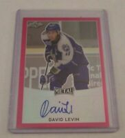 DAVID LEVIN - 2017 LEAF METAL - ROOKIE AUTOGRAPH - PINK - #6/10 -