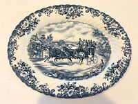 """Johnson Brothers COACHING SCENES Oval Serving Platter 13 3/4"""" x 10 1/2"""""""