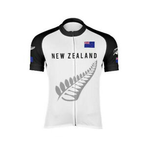 New Zealand Silver Fern Cycling Jersey bib shorts Cycling Short Sleeve Jersey
