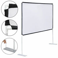 "100"" Diagonal 16:9 Projection Projector Screen HD Home Theater with Stand"