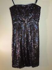 BCBG Max Azria Fabulous Black Sequin Carole Tube Dress Size 0