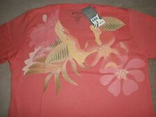 Matson Lines Ladies Floral Print Aloha Beach 100% Soft S/S Cotton T-Shirt S