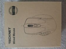 USB Wired Mouse 6-Button Wired Optical Mouse Mice Side Buttons - 2000DPI TECKNET
